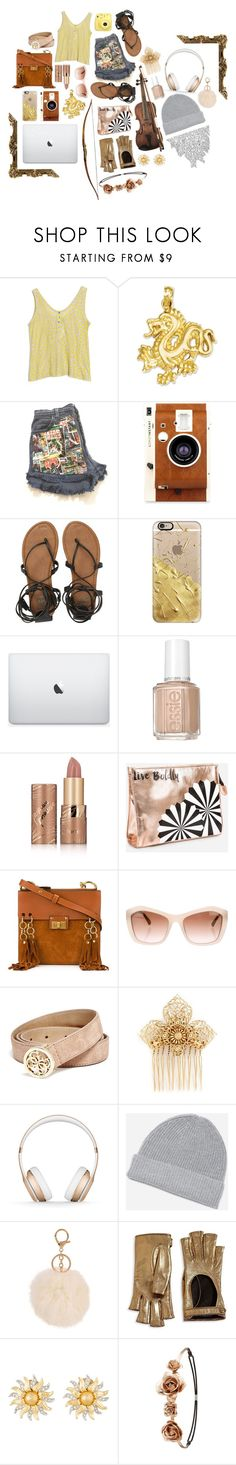 """""""If love is blindness, i do not want to see. // Everyday 1 // Daughter of Apollo // Camp Half Blood"""" by saffire9975 ❤ liked on Polyvore featuring Fujifilm, SUNO New York, LØMO, Billabong, Casetify, Essie, tarte, Ashley Stewart, Chloé and Chanel"""