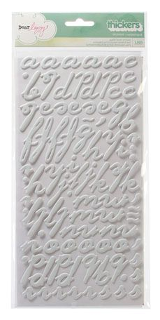 American Crafts - Dear Lizzy Neapolitan Collection - Thickers - Matte Puffy Alphabet Stickers - Splendid - Smoke at Scrapbook.com $4.99