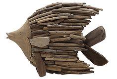 """11"""" Driftwood Angel Fish, Natural on OneKingsLane.com"""