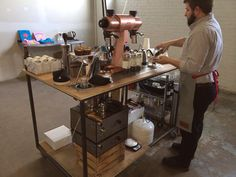 Serious coffee being made at Anthology Coffee with a Mahlkonig EKK 43 and a ModBar espresso setup!