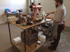 Serious coffee being made at Anthology Coffee with a Mahlkonig EKK 43 and a ModBar espresso setup!