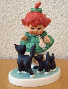 GOEBEL FIGURINE CHARLOT BYJ 3 OOPS TM4 REDHEAD RED HEAD W.GERMANY CATS BYJ3 MINT #Figurines