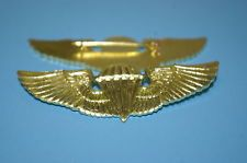 a0175 WW2 OSS Chinese Commando Paratrooper wing gold