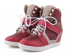 Fashion Feel  good-Sneakers Mid Heel Sneakers (green,pink,yellow)