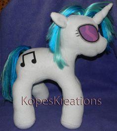 Custom Handmade Vinyl Scratch DJ Pon3 Plush with by KOPESKREATIONS, $75.00
