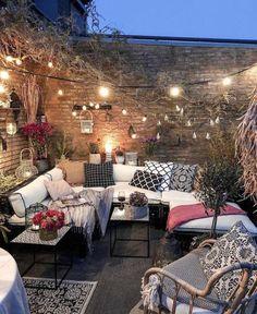 Bohemian Garden Backyard and Patio Ideas Outdoor Rooms, Outdoor Gardens, Outdoor Living, Outdoor Furniture Sets, Outdoor Decor, Cozy Furniture, Bohemian Furniture, Recycled Furniture, Affordable Furniture