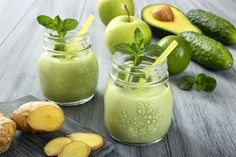 Low Sugar Skinny Green Smoothie:Ingredients: 1 green apple half avocado 1 inch piece of ginger 1 tsp. vanilla bean powder mint or basil leaves 1 small handful of spinach or other leafy green 1 cup almond milk, coconut milk, coconut water or water Avocado Smoothie, Healthy Green Smoothies, Apple Smoothies, Green Smoothie Recipes, Juice Smoothie, Smoothie Drinks, Healthy Drinks, Sugar Cravings, Food Cravings