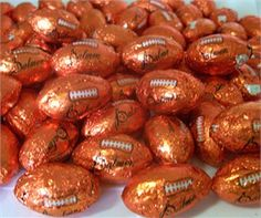 Chocolate Footballs--Penny Candy from my childhood. Chris loved these. Chocolate Footballs, Delicious Chocolate, Candy Shop Online, Rachael Ray Magazine, Individually Wrapped Candy, Wholesale Candy, Penny Candy, Sports Food, Sweets