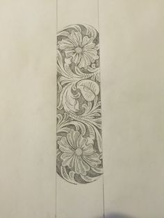 Sheridan style leather tooling pattern for guitar strap, belt, etc...