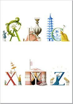 An Architectural Alphabet vgnettes - NOTECARDS
