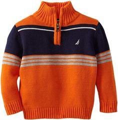 Nautica boys zip through turtleneck sweater. Next Clothing Kids, Baby Kids Clothes, Baby Cardigan Knitting Pattern, Baby Knitting Patterns, Turtleneck Style, Toddler Sweater, Boys Sweaters, Knitting For Kids, Pulls