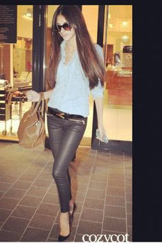 Leather trousers. Day/night