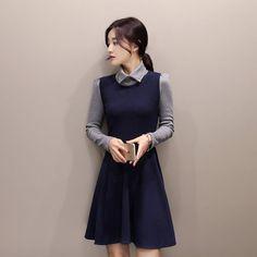 Autumn Cotton Dress http://koreanfashionworld.com/product/autumn-cotton-dress http://koreanfashionworld.com