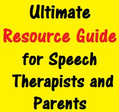 Resource Guide: This links to a website that provides access to materials, apps, websites, and more for speech and language therapy. It can be a good resource for parents and to find homework or ideas for ways to incorporate speech into home activities. Speech Language Pathology, Speech And Language, Childhood Apraxia Of Speech, Speech Delay, Receptive Language, Speech Therapy Activities, Language Development, Parents As Teachers, Therapy Ideas