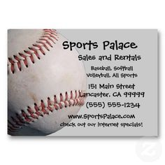 All Sports Business Card Templates - $29.95 - All Sports Business Card Templates - All Sports! Baseball, Softball, Volleyball, Basketball, and Soccer ball decorate this sporty card. Use it for any type of sport equipment sales or rental, or for league or coaching! Easy to customize, add your text!