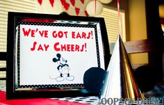 mickey party_ears... Cute ideas for games, food, and more