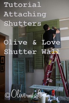 Tutorial for Attaching Shutters for a   Shutter Wall