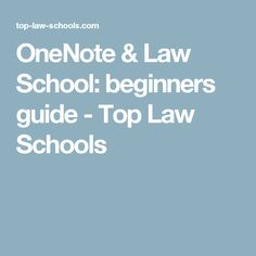 Top Law School