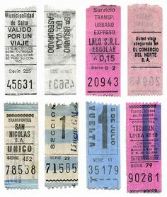 Old Argentine train tickets
