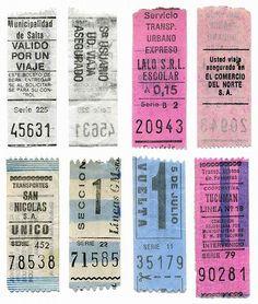 Old Argentine train tickets