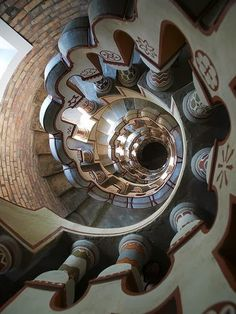 Stunning depictions of Staircases - Part 4 -  Spiral staircase at Bory Castle in Szekesfehervar, Hungary.