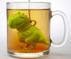 I can start my morning with a dinosaur tea infuser any day.