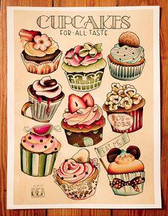 #cupcakes #dessins