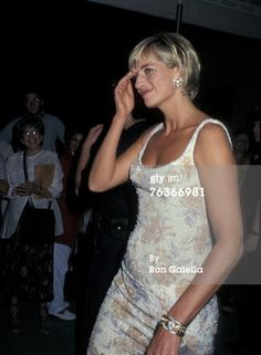 June 23, 1997: Diana, Princess of Wales attends a private viewing of her dresses…