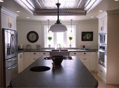 This is the layout for my kitchen. ceiling inset too! nice pressed tin