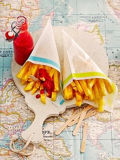 Pineapple fries with Raspberry Ketchup ;-)