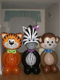 From Balloonchat Jungle Party, Jungle Theme Parties, Safari Party, Safari Theme Birthday, Wild One Birthday Party, Baby Party, Safari Decorations, Balloon Decorations, Baby Shower Balloons