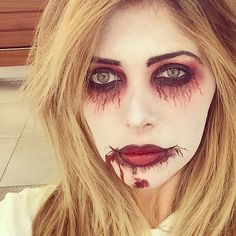 The former reality star put on bloody makeup.  Source: Instagram user brittgastineau