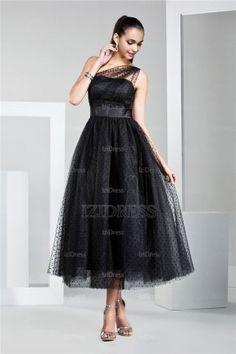 http://www.weddingstuff2014.com A-Line/Princess One Shoulder Tea-length Chiffon Prom Dress - IZIDRESS.com at IZIDRESS.com