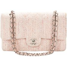 Pre-owned 1990's Chanel Pink Multi-Tweed & Pink Leather Vintage Double... (€3.055) ❤ liked on Polyvore featuring bags, handbags, shoulder bags, chanel, clutches, pink, sacs, handbags and purses, structured shoulder bags and chanel shoulder bag