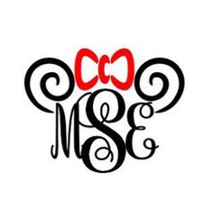 Minnie Mouse Monogram Decal, Minnie Mouse Car Decal, mouse ears IPhone Decal, Notebook Decal, Binder Decal, minnie cup Decal, Monogram Decal by SoSouthernAccents on Etsy