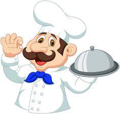 Cartoon chef design vector graphics
