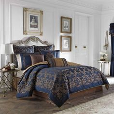 Shop for Croscill Monroe Blue 4-piece Comforter Set. Get free shipping at Overstock.com - Your Online Fashion Bedding Outlet Store! Get 5% in rewards with Club O!