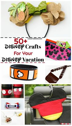 A Disney Vacation is a magical experience. Getting ready for it is part of the fun. Check out50+ DIY Disney Crafts For Your Disney Vacation that will make the experience even more magical!