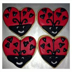 Love Bug Sugar Cookies decorated with royal icing!