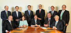 El nuevo y reducido consejo de administración de Bankia. Y hay algunos que todavía sonríen a la cámara.