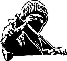 忍者, 男, スリング ショット, 暴動, カンフー, キャップ, ブラック ホワイト