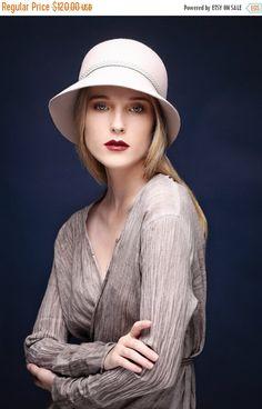 A personal favorite from my Etsy shop https://www.etsy.com/il-en/listing/206781633/on-sale-women-beige-hat-felt-cloche-hat