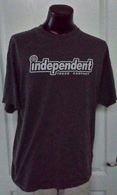 2a48eadc1d Independent Skateboard Trucks Logo Gray T Shirt XL Vintage Retro 90s Rare  90s Throwback