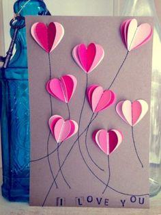 Spend some handmade love with these 21 DIY Valentine& Day Gar . - Spend Some Handmade Love With These 21 DIY Valentine& Day Cards Garden Art Spend Some Handmad - Valentines Day Cards Handmade, Handmade Birthday Cards, Valentine Day Crafts, Valentine Decorations, Homemade Valentines, Saint Valentin Diy, Tarjetas Diy, Valentines Bricolage, Valentine's Day Diy