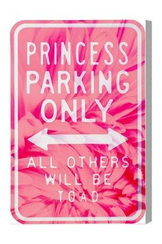 Oliver Gal Princess Parking Canvas Art by Oliver Gal Gallery on @HauteLook