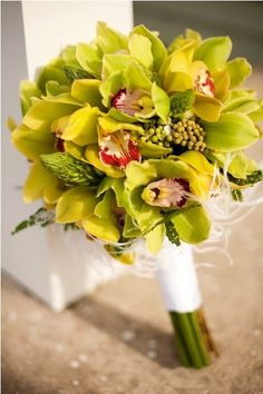Green Orchids Wedding Bouquets