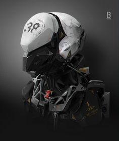 ArtStation - MM45 Helmet Closed, Benoit Godde