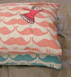 Screen printed pillow case  Madame moustache by normadot on Etsy, $42.00