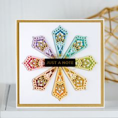 Spellbinders June 2019 Small Die of the Month is Here – Kaleidoscope Trio. This die set features 10 die templates that are ideal to create little layered accents or even full card backgrounds! Just pick the right color of paper and die-cut away! Kirigami, Mandala, Spellbinders Cards, Embossed Paper, Card Kit, Scrapbook Paper Crafts, Paper Cards, Card Templates, Decor Crafts