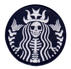 Dead Barista Mermaid Rockabilly Zombie Tattoo Goth Punk Patch By Titan One: Embroidered patch emblem 3 Inches Iron on or sew on Made by Titan One Patches Punk, Cool Patches, Pin And Patches, Iron On Patches, Jacket Patches, Sew On Patches, Palette Pastel, Howleen Wolf, Zombie Tattoos